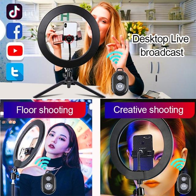 Orsda 10-12 Inch Led Ring Light With Tripod RingLight Selfie Ring Light for Makeup Video Live Aro De Luz Para Hacer Tik Tok 6
