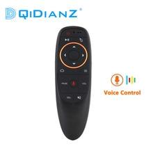 2.4G sans fil Air souris G10 voix télécommande Microphone Gyroscope IR apprentissage pour Android tv box X96 AIR HK1 H96 MAX MINI