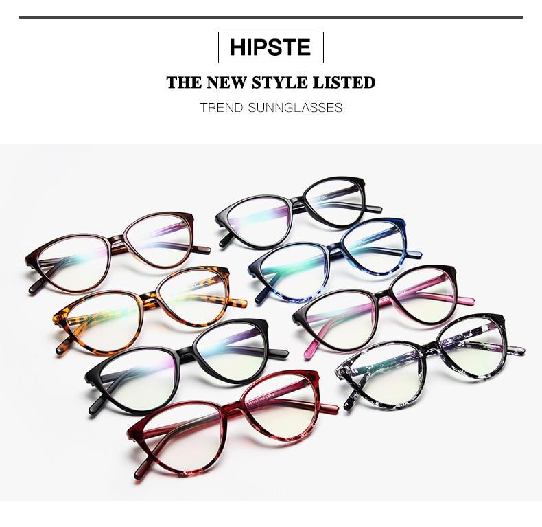 New Retro Cat Eye Women Glasses Frame Anti Blue Light Lady Eyeglasses Frame myopia Vintage Clear Glasses Optical Spectacle Frame (3)