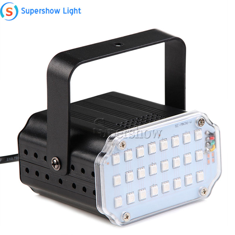 H42a92094fb1743e5af81fe2564e7f4f4o - 36 Led DJ Disco Strobe Light LED Flash Voice Music Stroboscope Stage Lighting Effect Party Show