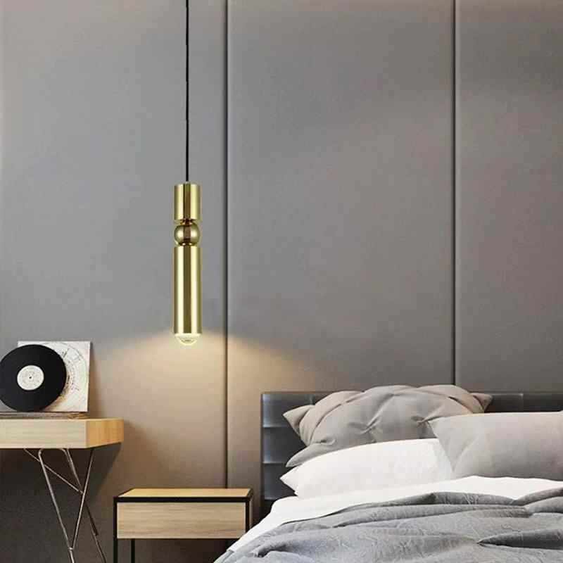 弾丸ストレートシングルヘッドバーカウンターレストランカフェリビングルームの寝室のベッドサイド階段ロングラインシャンデリア