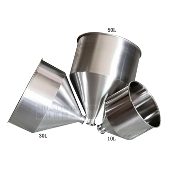SHENLIN Hopper of filling machine 30L SS304 filler hopper stainless steel hopper food container Food safe without hopper NO CAP