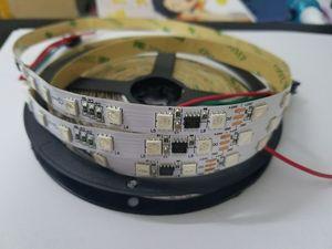 Image 2 - 5 м/лот 24 В постоянного тока 2811 WS2811 Адресуемая 60 светодиодов Пиксельная полоса светильник цифровая RGB 5050 лента IP30 IP67 чёрно белые печатные платы 1 Ic Control 6