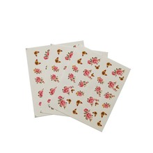 Nail Sticker Pink Flower Colour Butterfly DIY Manicure Slider Embossed Adhesive Art Tips Decorations Decals 3pcs E14