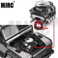 RCรถF82 V8 จำลองเครื่องยนต์มอเตอร์พัดลมระบายความร้อนหม้อน้ำสำหรับ 1/10 RC Crawler Traxxas Trx 4 Axial Scx10 90046 Redcat gen8 G500