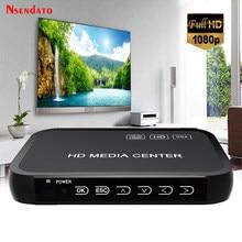 1080P Full Hd Media Videospeler Center Voor Hd Vga Av Usb Sd/Mmc Poort Afstandsbediening Ypbpr kabel Voor Sd U-schijf Usb Harde Schijf
