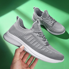 Men Running Shoes 2020 Summer Fly Weave Breathable Mesh Men Shoes Lace Up Sport Shoes for Male Lightweight Walking Sneakers Men lightweight male casual shoes fashion fly weave breathable air mesh men sneakers 2018 summer comfortable walking shoes 39 44