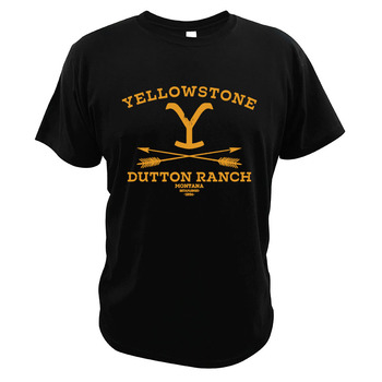Yellowstones Dutton Ranch T Shirt Parody Vintage American Drama Television Series EU Size High Quality T-Shirt - discount item  30% OFF Tops & Tees