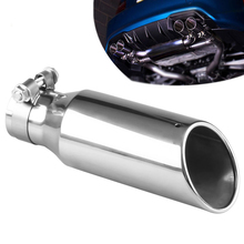 1pcs, unique drain hole of tailpipe single outlet exhaust muffler general stainless steel automobile