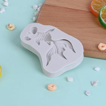 1pc DIY nowy goldfish kształt płynnego silikonu formy kremówka narzędzie do dekoracji ciast narzędzie goldfish mold crafts tanie i dobre opinie ZTHOME Z gumy silikonowej silicone mold goldfish