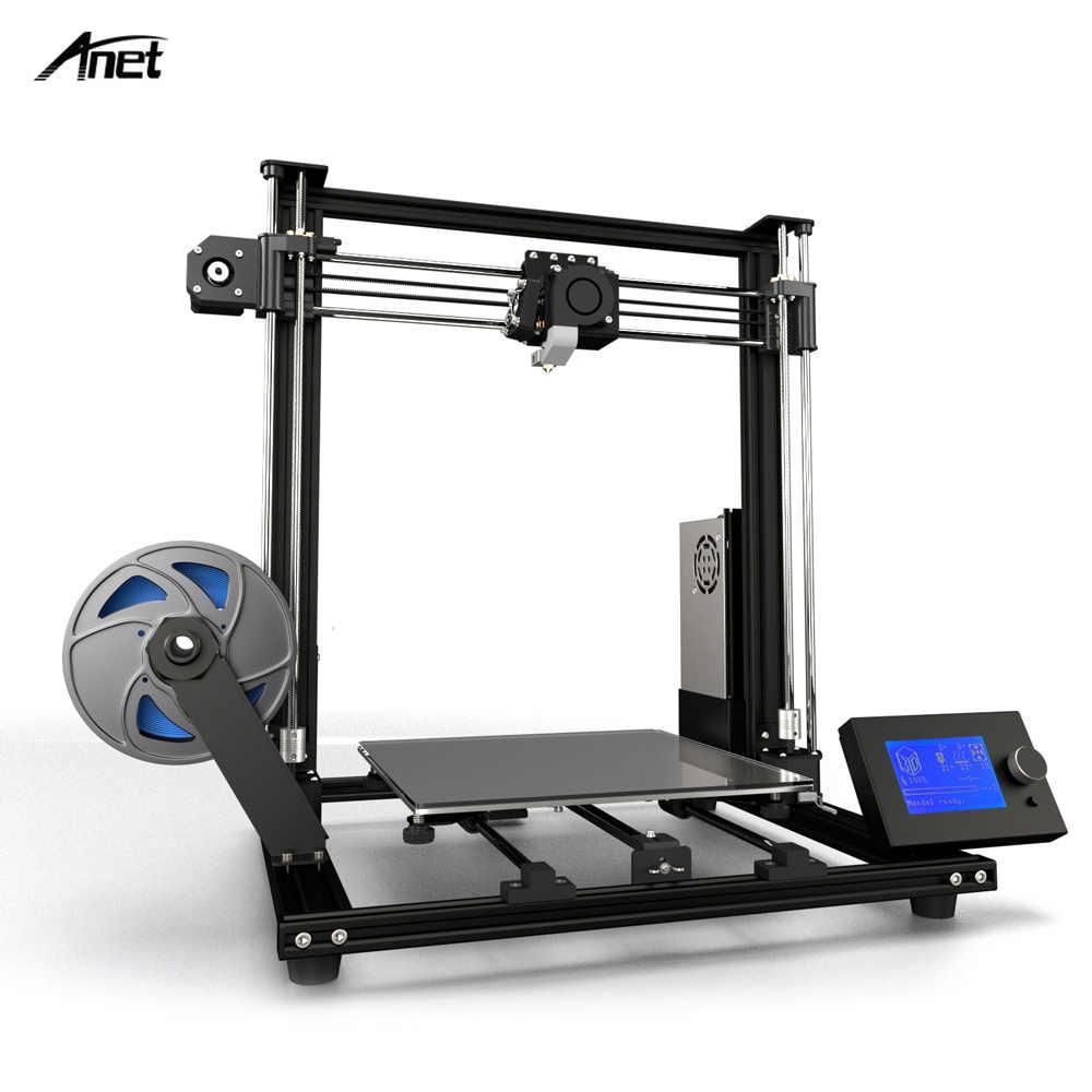 Anet A8 Plus actualizado de alta precisión de la impresora 3D medio DIY Semi-montaje 300*300*350mm de gran tamaño de impresión de marco de aleación de aluminio