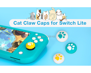 Image 3 - 4 Stuks Voor Nintend Schakelaar Lite Ns Vreugde Con Controller Gamepad Thumbstick Case Leuke Kat Poot Klauw Thumb Stick Grip cap Joystick Cover