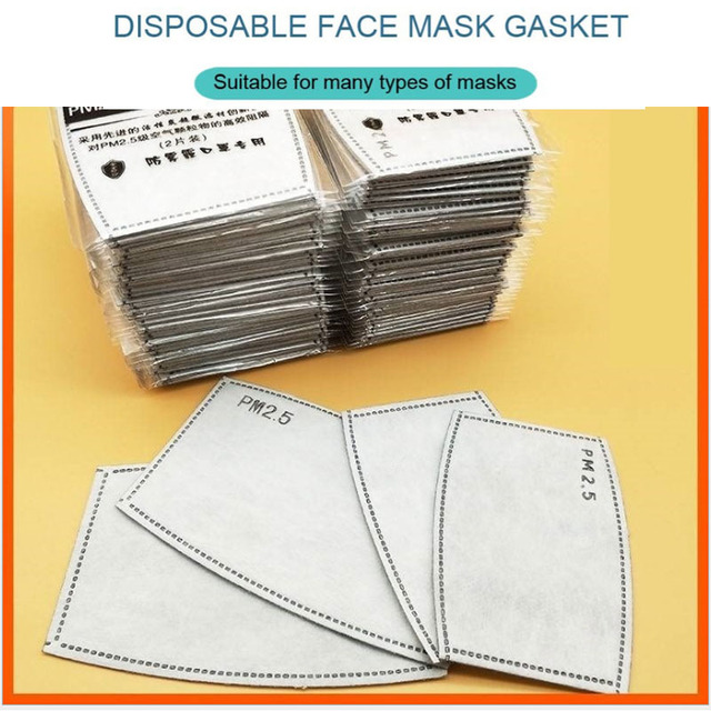 Kids Adult 10pcs/Lot PM2.5 Filter Non-woven masks pad Anti Haze mouth Mask Child mask Filter paper Boy girls Health Care 5