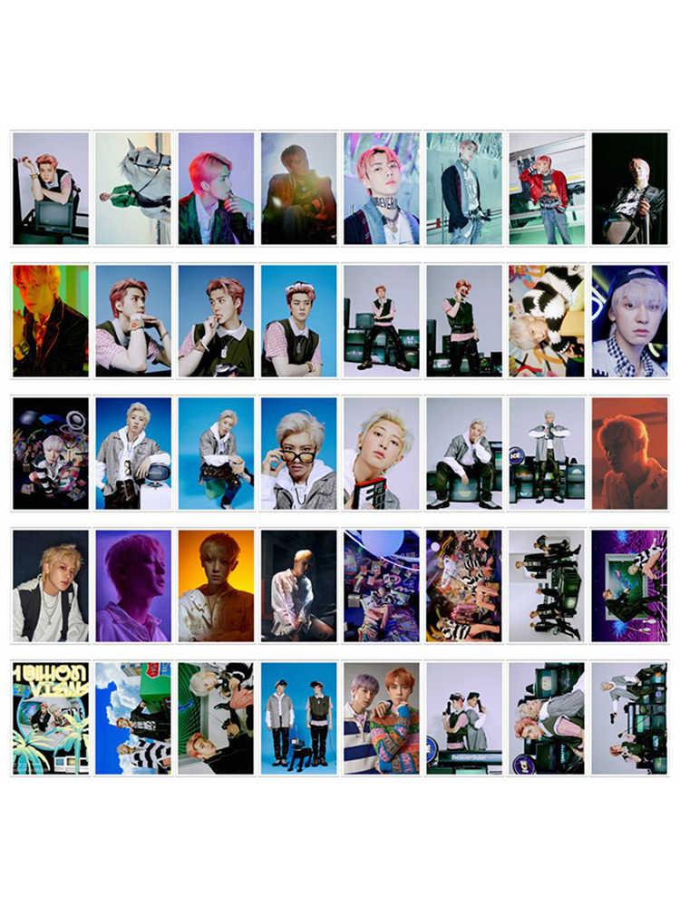 40Pcs Set Iron Boxed KPOP EXO SC Billion Views Self Made Paper Lomo Card Photo Card.jpg q50