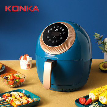 KONKA Oil Free Low Fat Home Safety Intelligent Multifunction Electric Air Fryer No Oil Household Professional Healthy Fryer