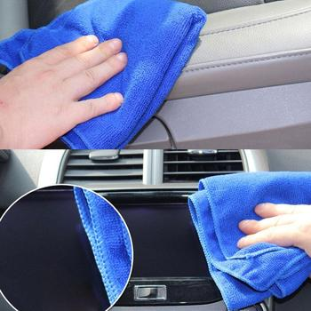 2Pcs 25x25cm Soft Microfiber Water Absorbent Cleaning Cloth Towel Home Car No-Scratch Washing Cloth полотенце image
