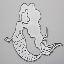 Metal cutting dies mold decoration Scrapbook paper craft knife mould blade punch stencils Long hair mermaid cut die(China)