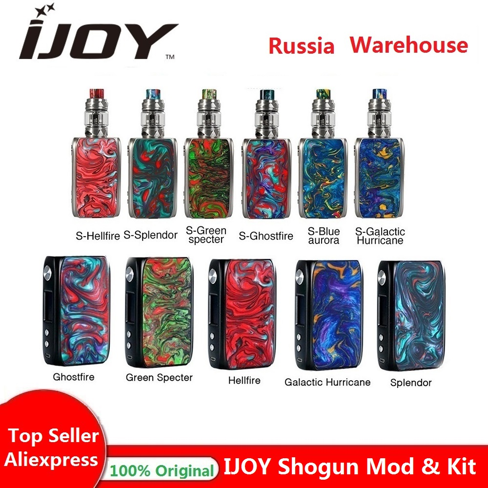 Hot Original IJOY Shogun Univ 180W TC Kit avec Shogun Univ MOD no 18650 batterie boîte mod e-cig vape kit vs Luxe kit/glisser 2 Mod