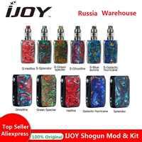 Original quente ijoy shogun univ 180 w tc kit com shogun univ mod n° 18650 caixa de bateria mod e-cig vape kit vs luxe kit/arrastar 2 mod