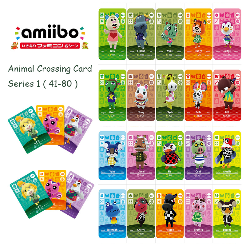 Animal Crossing Card Series 1 (41-80) Amiibo Card Work For 3DS NS Switch New Horizons Amiibo Card Game Animal Crossing Sticker