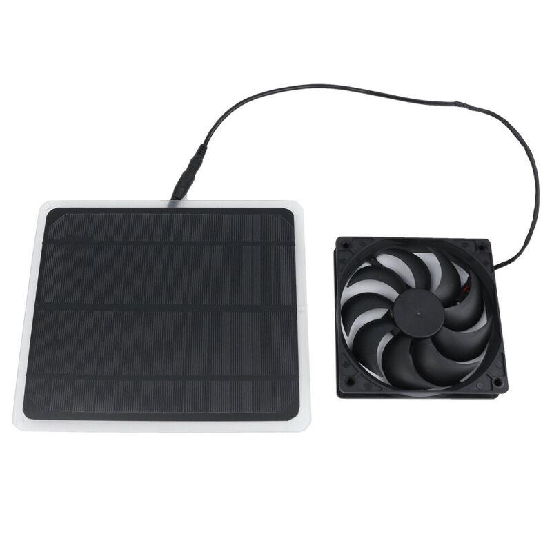 10W Solar Powered USB Fan Mini Ventilator Fits Greenhouse Pet/Dog/Chicken House,