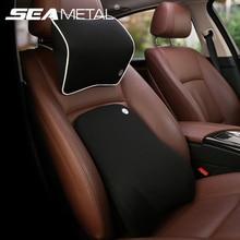 Poduszka zagłówka samochodu 3D zapamiętująca przestrzeń pianka miękkie oparcie fotela samochodowego zagłówek ochraniacz na poduszki do wygodnego napędu akcesoriów samochodowych