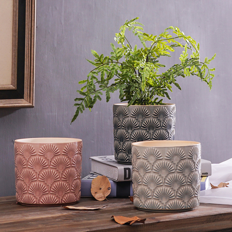 T4U Simple Ceramic Dandelion Succulent Plant Pot Cactus Plant Pot Flower Pot For Cactus Container Planter Nordic Decoration Home