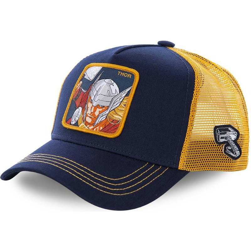capslab-thor-tho1-marvel-comics-navy-blue-and-yellow-trucker-hat