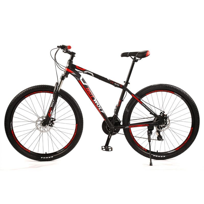 Высокое качество, новый 29-дюймовый горный велосипед SHIMANO, 24-скоростной велосипед с переменной скоростью, рама из алюминиевого сплава, передний и задний механический дисковый тормоз