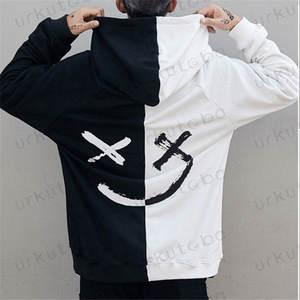 Hot Sale Fashion  Plus Size 3XL Hip Hop Street Wear Men Hooded Hoodies Smile Print Sweatshirts Tops Hoodie Clothes