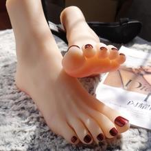 36A High quality real Silicone Photography of Silk Stockings Jewelry Model soft Female Foot mannequin 2PC/lot  C720