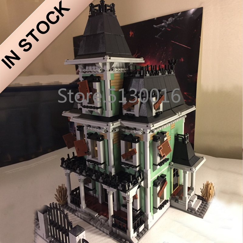 16007 In Stock Creator Fighter The Haunted Soul House 2141Pcs 10228 Street View Model Building Blocks Bricks Education Toys