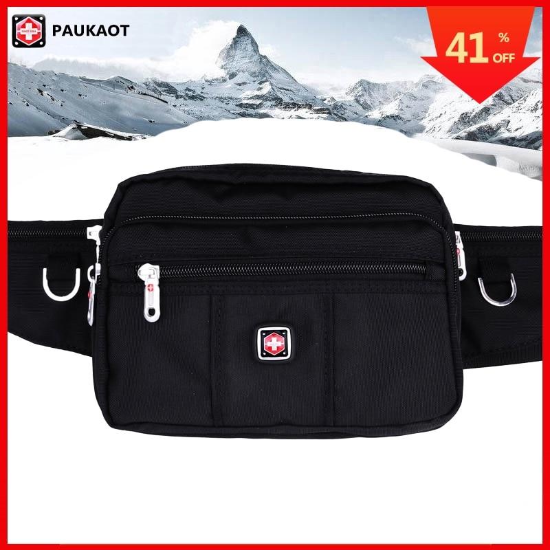 PAUKAOT Waist Packs Travel Fanny Pack Belt Bag Waterproof Smartphone Bum Hip BagsFor Men Small Bags Zipper Pouch