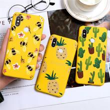 Cactus Plant Phone Case For Xiaomi Redmi Note 8 8T 7 K30 K20 6 5 Pro 7A 8A Candy Color Silicone Case For Redmi Note 9 9s Pro Max