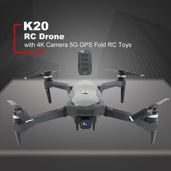 New K20 RC Drone ESC 5G GPS WiFi FPV with 4K Camera 25mins Flight Time Brushless 1800m Control Distance Foldable Kids Birth Gift 4 axis gps mini drone helicopter parts arf diy kit gps apm 2 8 flight control emax 20a esc brushless motor