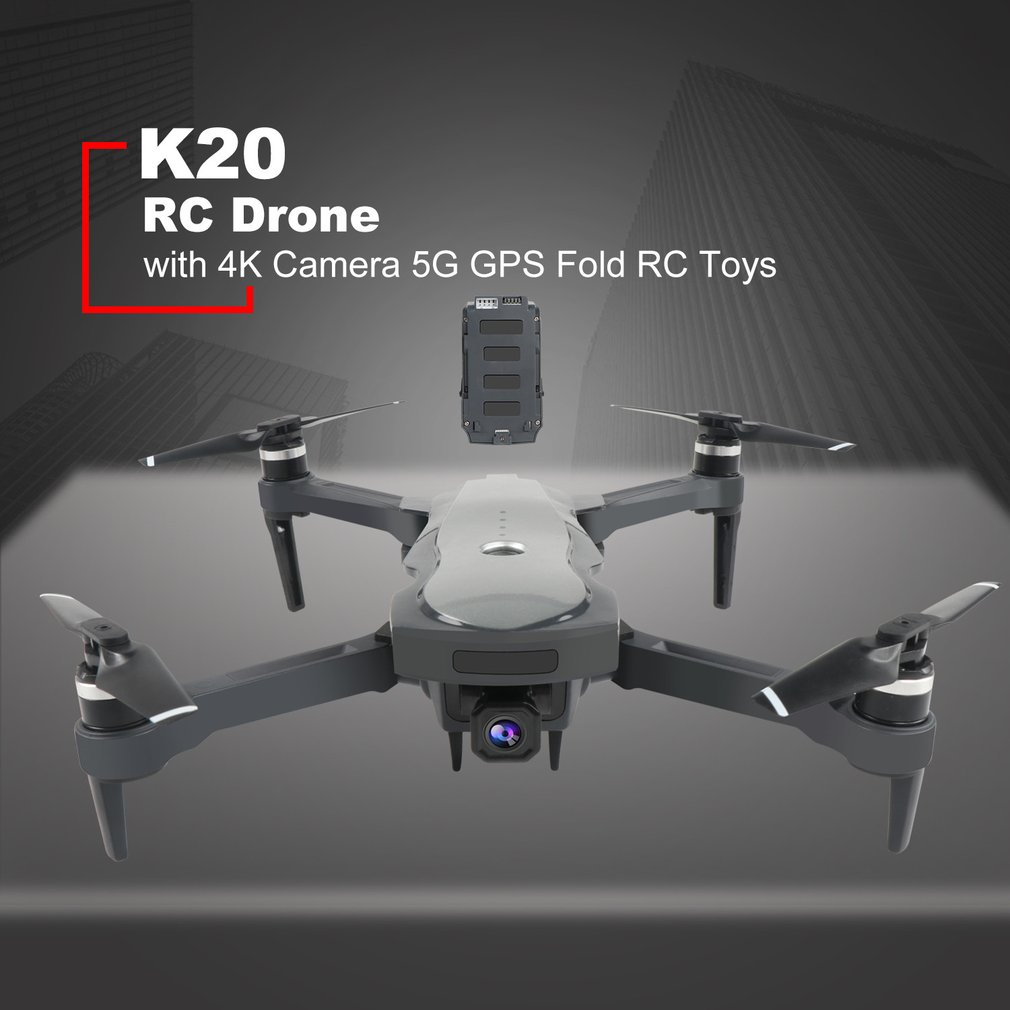 New K20 RC Drone ESC 5G GPS WiFi FPV with 4K <font><b>Camera</b></font> 25mins Flight Time Brushless 1800m <font><b>Control</b></font> Distance Foldable Kids Birth Gift image
