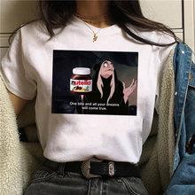 Для женщин 90s harajuku ullzang мода футболка Топы с графическим
