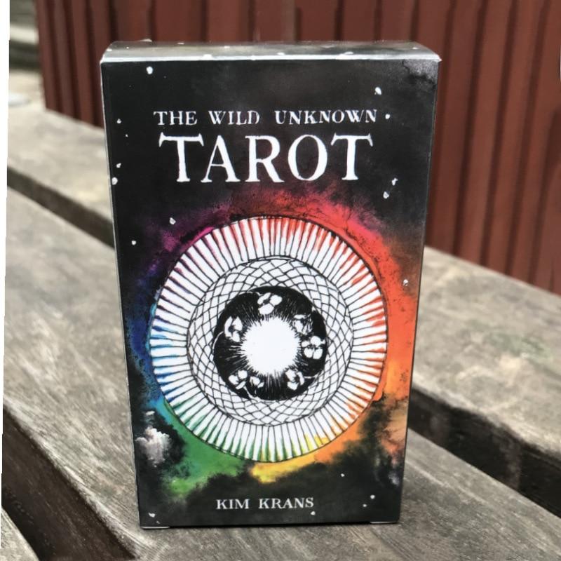 English Wild Unknown Tarot Wild Tarot Cards Family Entertainment kids toys High Quality Tarot Deck Board Game Cards 78 cards/set