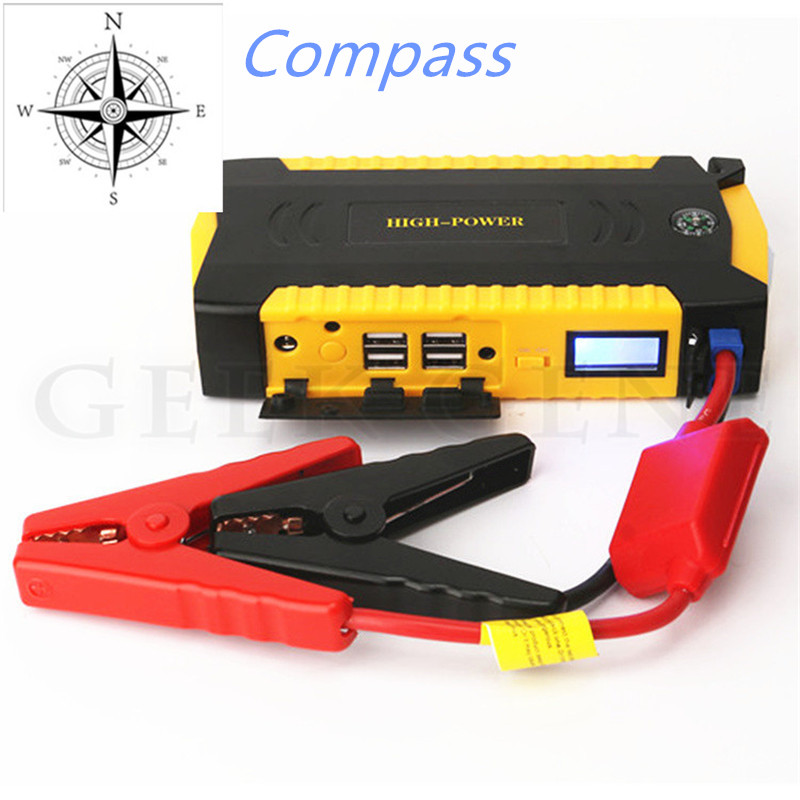 Image 5 - GKFLY High Capacity Mini Jump Starter 12V 16000mAh Starting Device 600A Portable Power Bank 12V Car Battery Booster Buster LED-in Jump Starter from Automobiles & Motorcycles