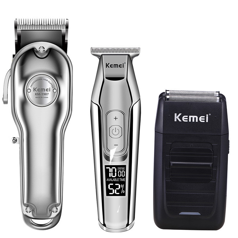 Kemei Hair Clipper Electric Hair Trimmer Barber Hair Cutter Mower Hair Cutting Machine Kit Combo KM-1987 KM-1986 KM-5027 KM-1102