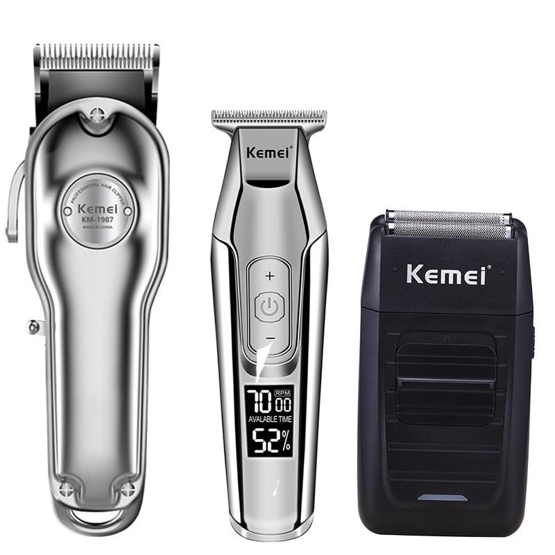 Kemei Hair Clipper Electric Hair Trimmer Barber Hair Cutter Mower Hair Cutting Machine Kit Combo KM-1987 KM-1986 KM-5027 KM-1102