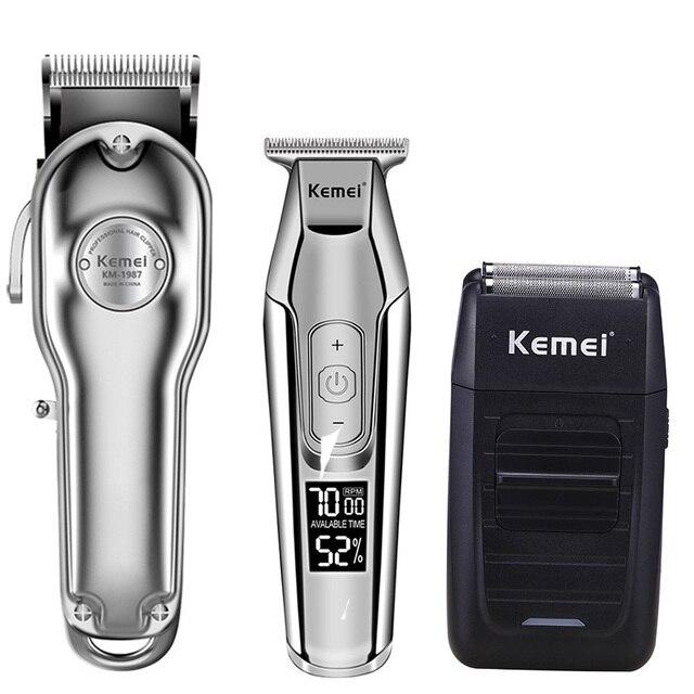 Kemei hair clipper electric hair trimmer barber hair cutter mower hair cutting machine kit combo KM 1987 KM 1986 KM 5027 KM 1102
