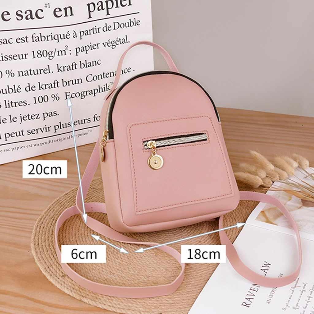新人デザイナーファッション女性バックパックミニソフトタッチ多機能小型のバックパック女性のショルダーバッグガール財布ドロップシップ
