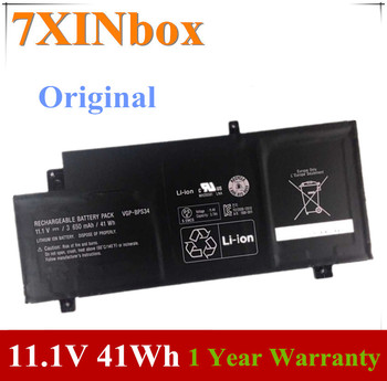 7XINbox 11,1 V 3650mAh 41Wh VGP-BPS34 BPS34 Аккумулятор для ноутбука Sony для VAIO Fit 15 Touch SVF15A1ACXB SVF15A1ACXS Bateria