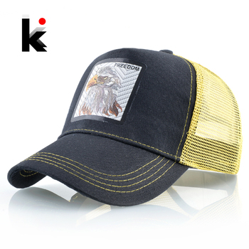 Summer New Snapback Hats For Men And Women Breathable Mesh Baseball Caps Unisex Streetwear Hip Hop Cap Eagle Patch Visor Bones 1