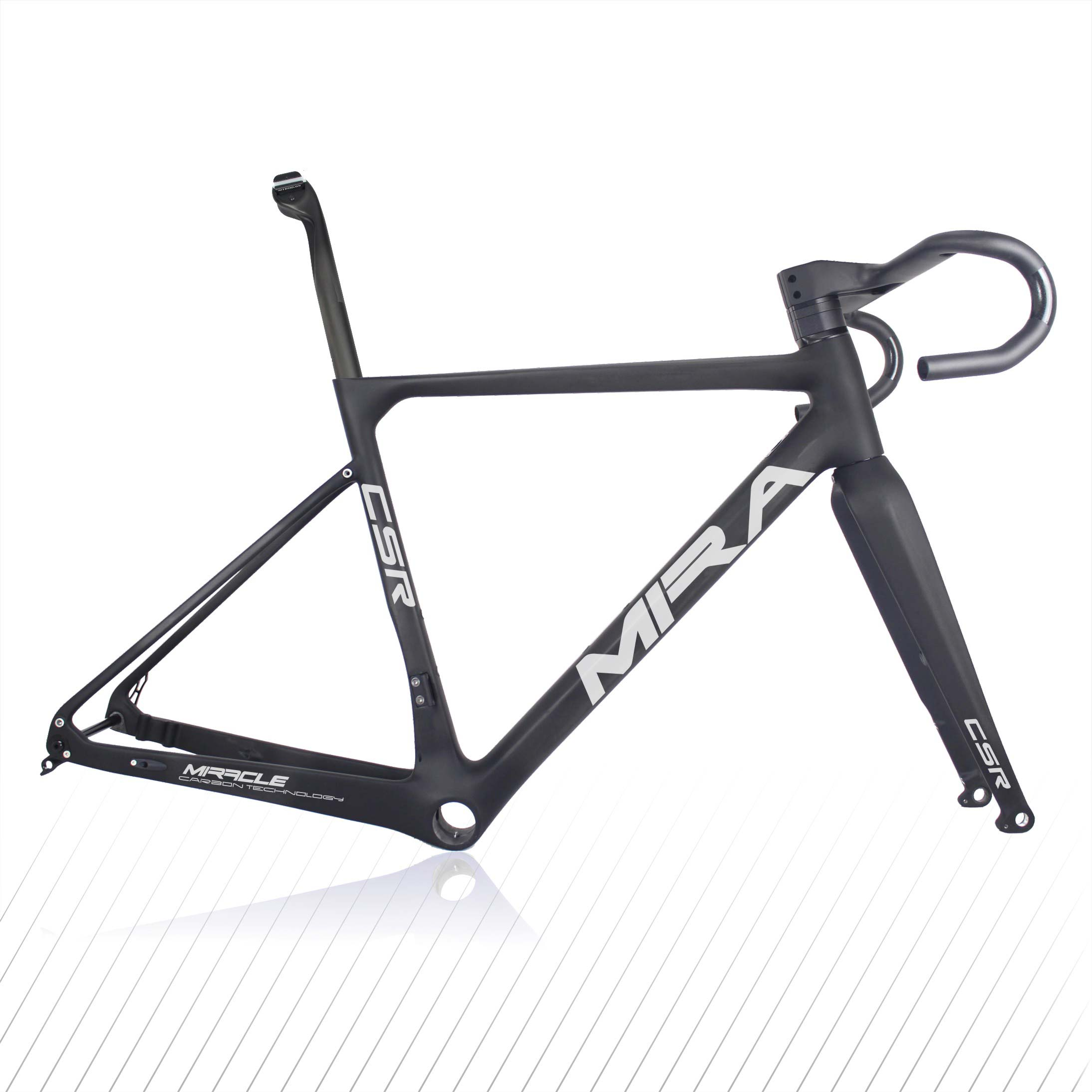 High Quantity Carbon Gravel Frame Cyclocross Frameset T1000 Carbon Bike Frame Disc Brake GR039