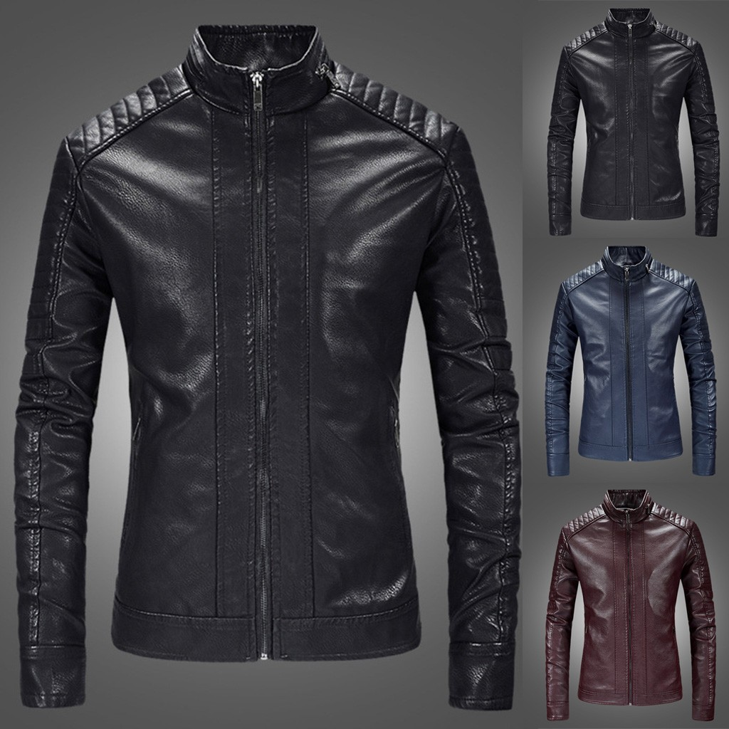 Winter Coat Pure-Collar Men's New-Style Casual Fashion Support