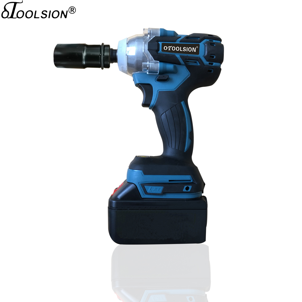 3000Mah 320N.m 21V Electric Wrench Brushless Motor Impact Wrench Cordless Electric Tool Screwdriver Wrench+Lithium-ion Battery