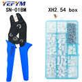 SN-01BM crimping tools pliers 0.08-0.5mm2 28-20AWG with XH2.54 terminal box Car connector high precision wire electrician tools