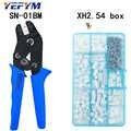 SN-01BM outils de sertissage pinces 0.08-0.5mm2 28-20AWG avec XH2.54 boîte à bornes connecteur de voiture haute précision fil électricien outils
